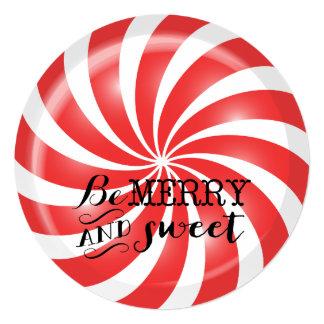 Peppermint dos convites | da festa de Natal