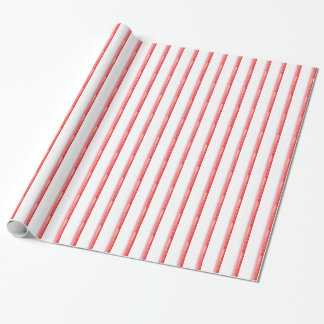 Peppermint vermelho papel de envolvimento listrado papel de presente