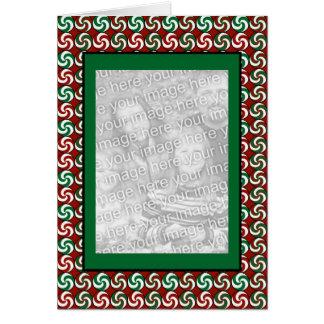 Peppermints verticais cartão comemorativo