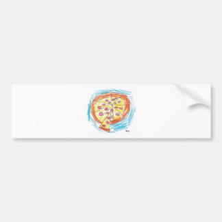 Pepperoni_Pizza_by_Nina_Age_6 Adesivo Para Carro