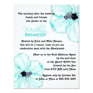 Pequeno almoço azul do casamento da arte do convite 10.79 x 13.97cm