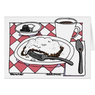 Pequeno almoço cartão comemorativo