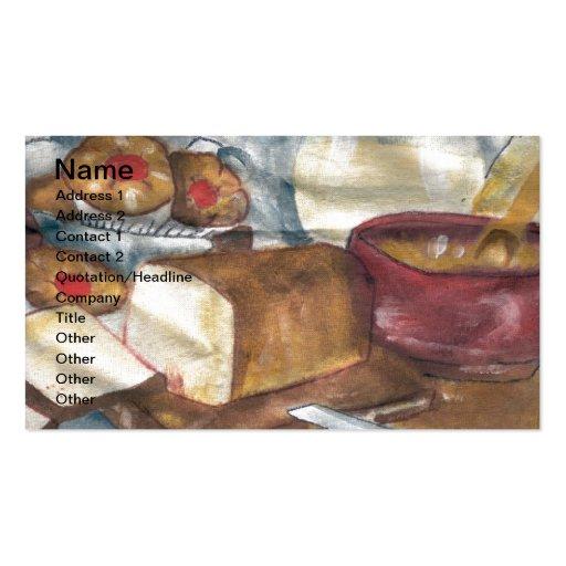 Pequeno almoço cartão de visita
