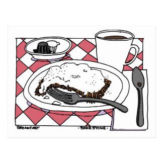 Pequeno almoço cartão postal
