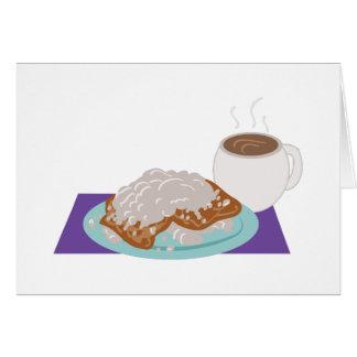 Pequeno almoço de Beignet Cartão Comemorativo