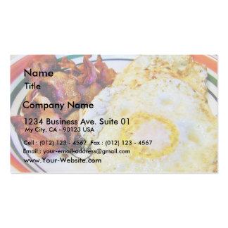 Pequeno almoço do bacon dos ovos cartão de visita