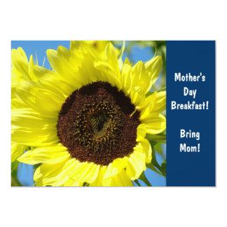 Pequeno almoço do dia das mães! Girassóis dos Convite Personalizados