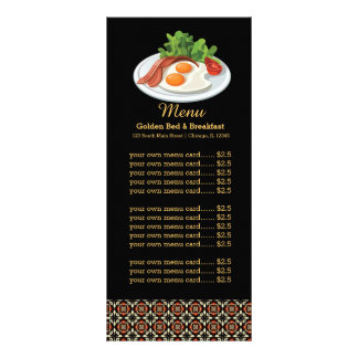 Pequeno almoço do menu 10.16 x 22.86cm panfleto