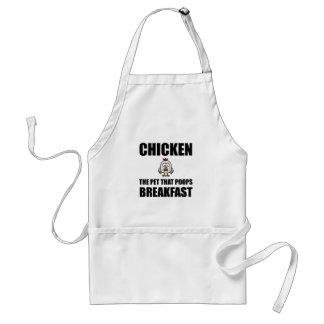 Pequeno almoço do tombadilho das galinhas avental