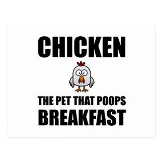 Pequeno almoço do tombadilho das galinhas cartão postal