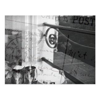 Pequeno almoço em Paris, cartão preto e branco