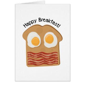 Pequeno almoço feliz! cartão comemorativo