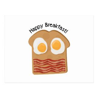 Pequeno almoço feliz! cartão postal