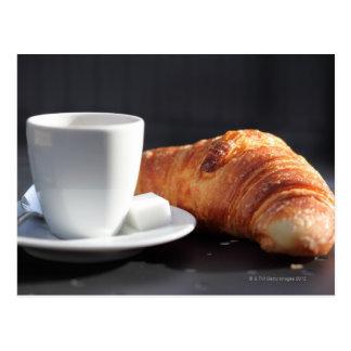 pequeno almoço francês 2 cartoes postais