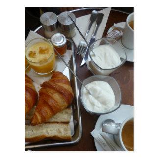 Pequeno almoço francês cartão postal