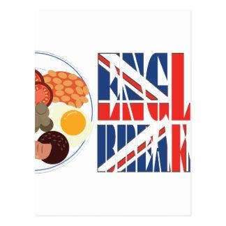 Pequeno almoço inglês cartão postal