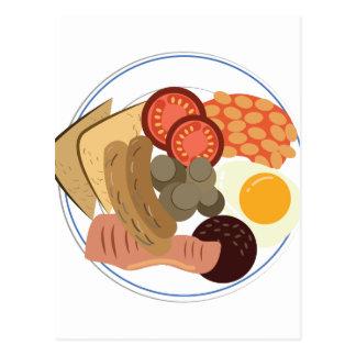 Pequeno almoço inglês completo cartão postal