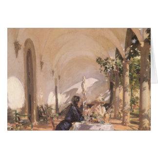 Pequeno almoço no Loggia por Sargent, Victorian do Cartão Comemorativo
