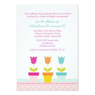 Pequeno convite dos potes de flor