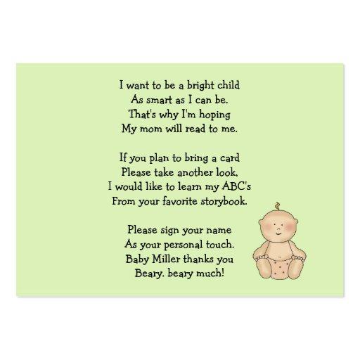 Pequeno da carruagem de bebê apenas cartao de visita