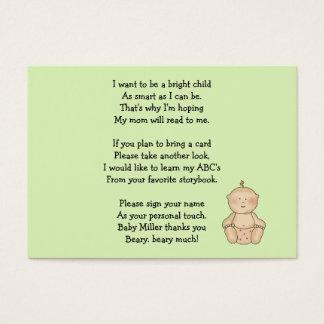 Pequeno da carruagem de bebê apenas cartão de visitas