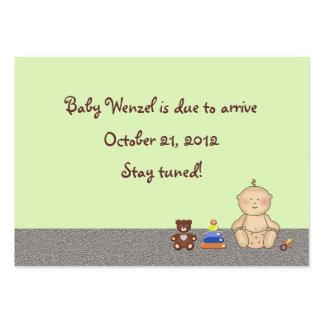 Pequeno da carruagem de bebê modelo cartões de visitas