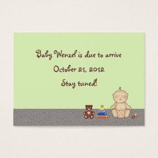 Pequeno da carruagem de bebê cartão de visitas