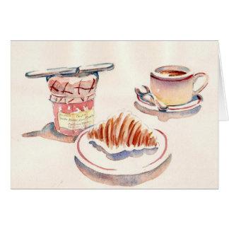 Pequeno Dejeuner de Paris Cartão Comemorativo