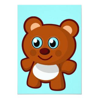 pequeno-urso-brinquedo-vetor 7414 POUCO TEDDYBEA Convites Personalizados