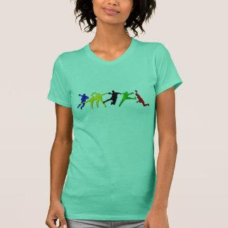Pequenos camisas do handball para mulheres