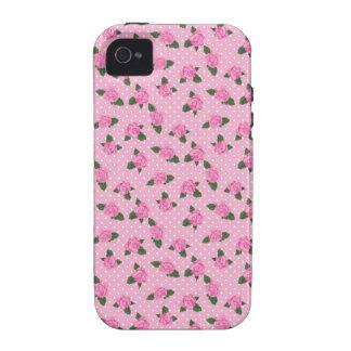 Pequenos rosas cor-de-rosa e caso do iphone 4S das