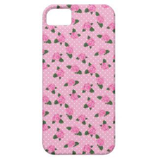 Pequenos rosas cor-de-rosa e caso do iphone 5 das capa barely there para iPhone 5