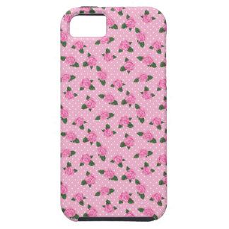 Pequenos rosas cor-de-rosa e caso do iphone 5S das Capa Tough Para iPhone 5