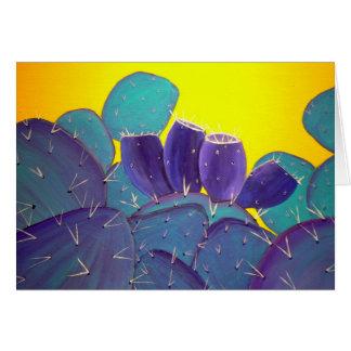 Pera espinhosa do deserto com fruta cartão comemorativo