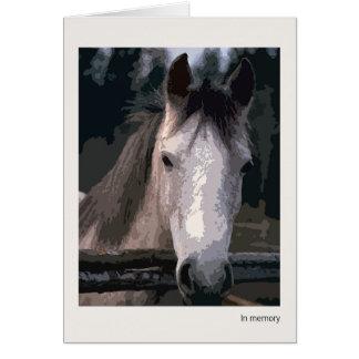 Perda de cartão de simpatia do cavalo