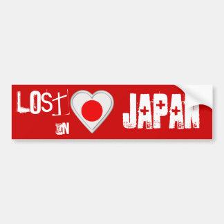 Perdido em Japão - coração japonês da bandeira Adesivo Para Carro