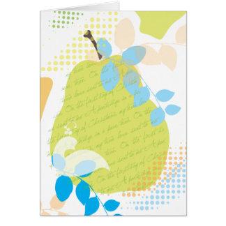 Perdiz em um cartão do Natal da árvore de pera