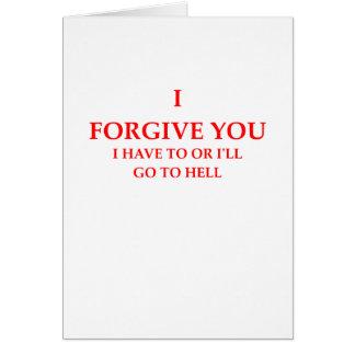 perdoe cartão comemorativo