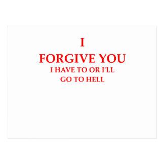 perdoe cartão postal