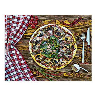 Perfeição da torta de pizza para cartão de