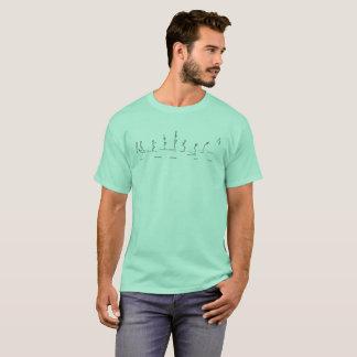 Perfeição do obstáculo do homem da vara da camisa
