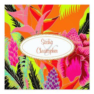 Perfeitamente tropical/gengibre/coconut/ti convite personalizado