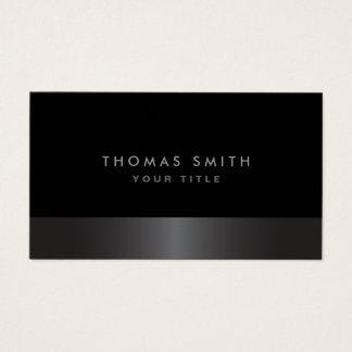 Perfil cinzento e preto da obscuridade elegante cartão de visitas