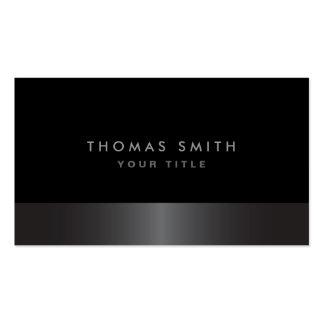 Perfil cinzento e preto da obscuridade elegante el cartao de visita