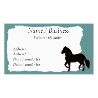 Perfil da bandeira do cavalo de Paso Fino Cartão De Visita