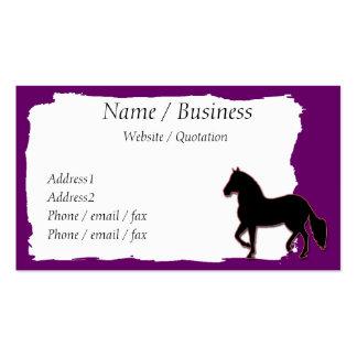 Perfil da bandeira do cavalo de Paso Fino Cartao De Visita