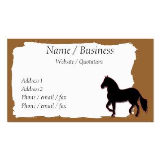 Perfil da bandeira do cavalo de Paso Fino Modelo Cartoes De Visitas