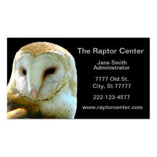 Perfil da coruja de celeiro do raptor cartão de visita