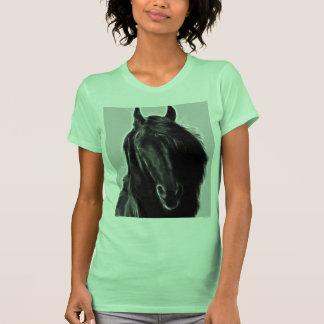 Perfil do cavalo do frisão t-shirts