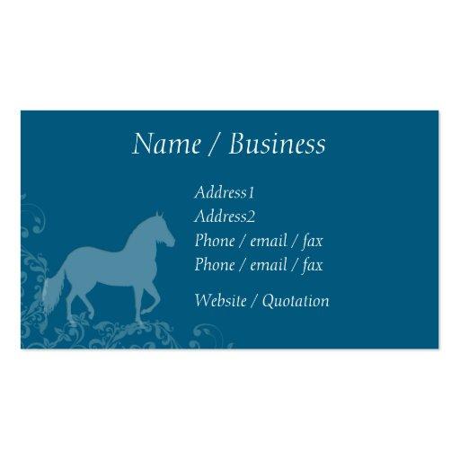 Perfil do Flourish do cavalo de Paso Fino Cartoes De Visitas
